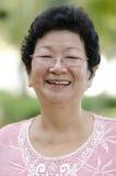 Mujer mayor asiática Imagen de archivo