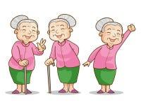 Mujer mayor benigna ilustración del vector