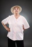 Mujer mayor caucásica Fotografía de archivo