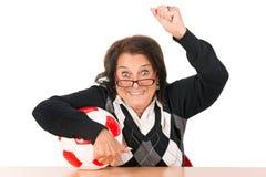 Mujer mayor con la bola Fotos de archivo libres de regalías
