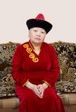 Mujer mayor de Buryat (mongolian) Fotos de archivo libres de regalías