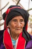 Mujer mayor de Palaung Foto de archivo
