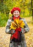 Mujer mayor de risa Imagen de archivo libre de regalías