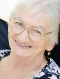 Mujer mayor de risa Fotografía de archivo