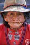 Mujer mayor en Perú foto de archivo