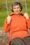 Mujer mayor en un libertino imágenes de archivo libres de regalías