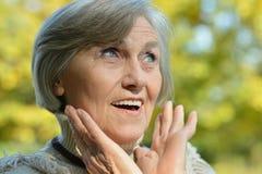 Mujer mayor feliz Fotos de archivo