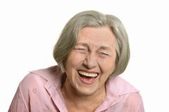 Mujer mayor feliz Imagen de archivo