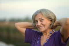 Mujer mayor feliz Fotografía de archivo