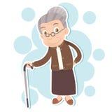 Mujer mayor sonriente stock de ilustración