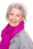 Mujer mayor sonriente fotos de archivo