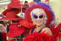 Mujer mayor tonta Foto de archivo