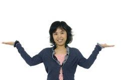 Mujer media asiática fotografía de archivo