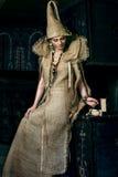 Mujer medieval Fotos de archivo
