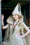 Mujer medieval Imágenes de archivo libres de regalías