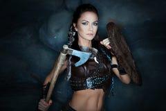 Mujer medieval el Amazonas Fotografía de archivo