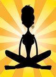 Mujer meditating stock de ilustración
