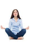 Mujer Meditating Fotografía de archivo libre de regalías