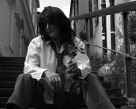 Mujer melancólica Imágenes de archivo libres de regalías
