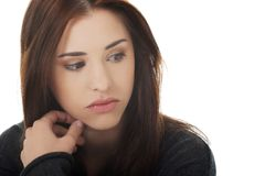Mujer melancólica joven Imagen de archivo