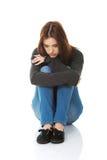 Mujer melancólica joven Foto de archivo