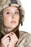 Mujer militar foto de archivo libre de regalías