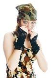 Mujer militar Imágenes de archivo libres de regalías