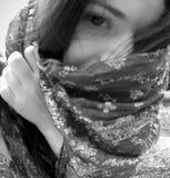 Mujer misteriosa Foto de archivo libre de regalías