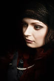 Mujer misteriosa hermosa. Fotos de archivo
