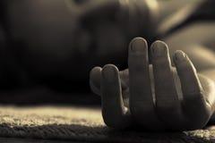 Mujer muerta Fotografía de archivo libre de regalías