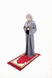 Mujer musulmán árabe que ruega Fotografía de archivo