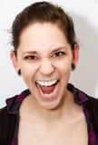 Mujer muy enojada Imagen de archivo libre de regalías