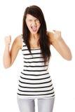 Mujer muy trastornada y enojada Imagenes de archivo