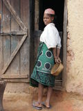 Mujer nativa malgache imagen de archivo
