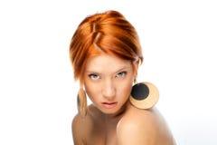 Mujer natural de la belleza Foto de archivo libre de regalías