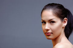 Mujer natural hermosa imagen de archivo