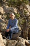 Mujer natural sonriente Fotografía de archivo libre de regalías