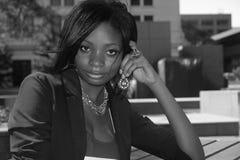 Mujer negra Fotografía de archivo libre de regalías