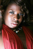 Mujer negra atractiva Imagen de archivo