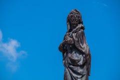 Mujer negra de la estatua fotografía de archivo libre de regalías