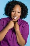 Mujer negra de risa imagen de archivo libre de regalías