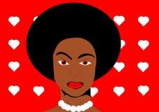 Mujer negra del arte pop Fotografía de archivo