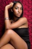 Mujer negra hermosa foto de archivo