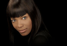 Mujer negra hermosa fotos de archivo