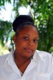 Mujer negra hermosa grande imagen de archivo libre de regalías