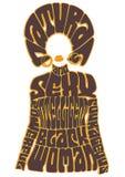 Mujer negra inteligente natural y atractiva libre illustration