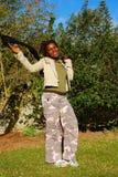 Mujer negra joven Foto de archivo libre de regalías