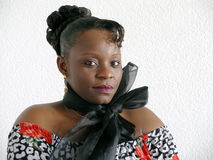 Mujer negra joven Imagenes de archivo