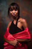 Mujer negra joven de moda Foto de archivo