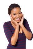 Mujer negra linda imagen de archivo libre de regalías